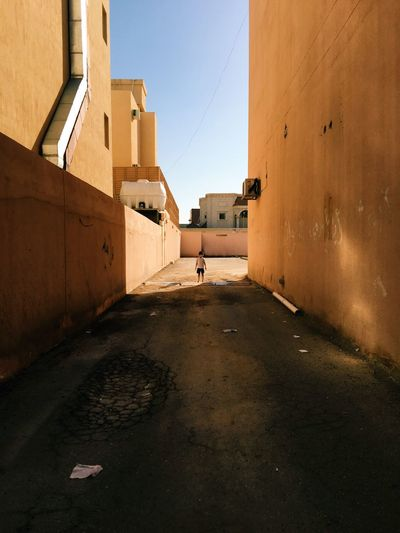 Alone Built Structure Architecture Building Exterior Sky City Building Nature Day Street Shadow Outdoors Sunlight Wall