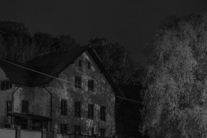 Outdoors Architecture Night Scene Monochrome Night Shadows Night Shadows Nature Lover From My Point Of View By Ivan Maximov My Freedom Springtime Landscape Tranquil Scene Black And White Noise Night Atmosphere
