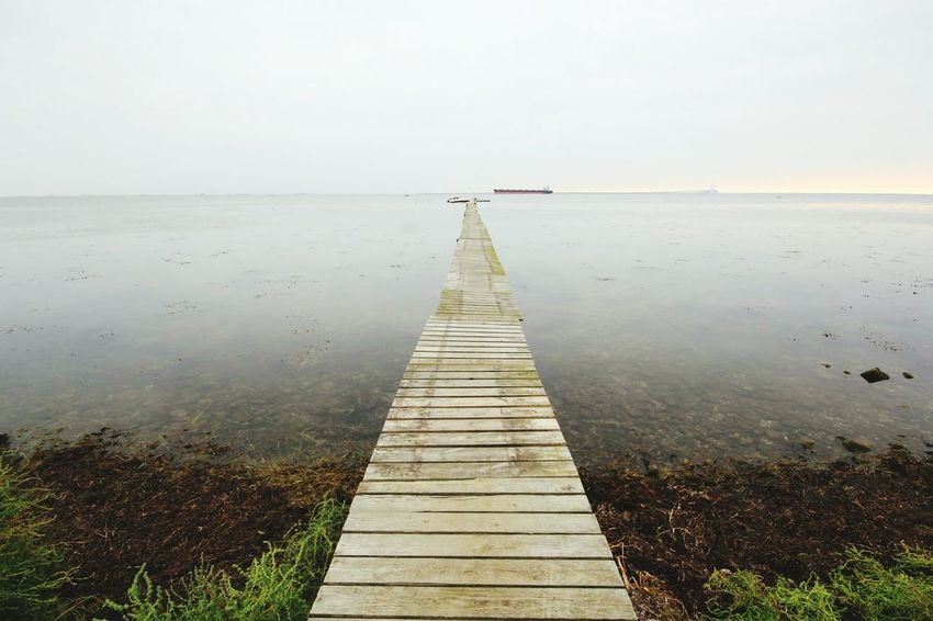 Water Pier Sea Tranquil Scene Horizon Over Water Jetty Calm Idyllic Beauty In Nature Ocean Sea