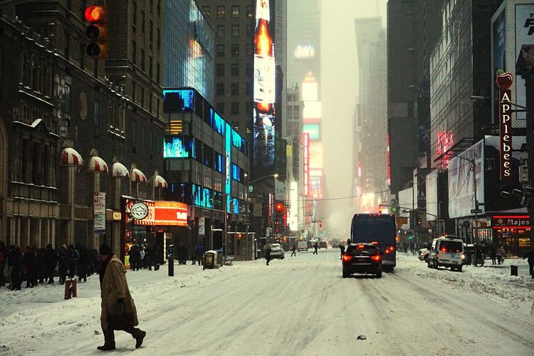 Winter Storm Stella Stella NYC Newyork Manhattan Urban City Life Cityscape Snow Blizzard