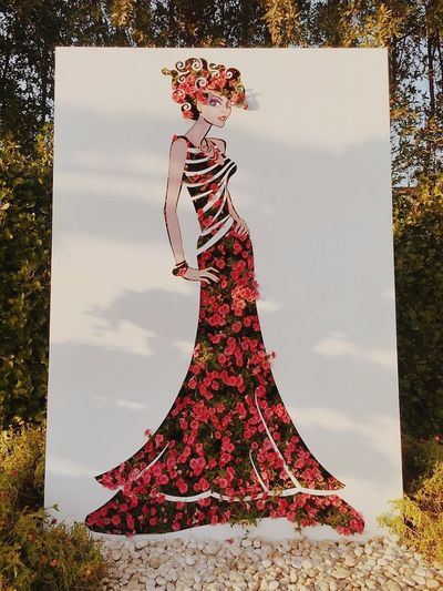 Sommergefühle Dress One Woman Only Only Women One Young Woman Only Adults Only Young Adult One Person Evening Gown Adult Fashion Beauty Beautiful Woman Standing People Beautiful People Full Length Tree Outdoors Young Women Day Flower Floral Flower And Garden