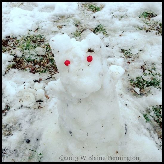 """Jess called this her """"Snow Moomin"""""""