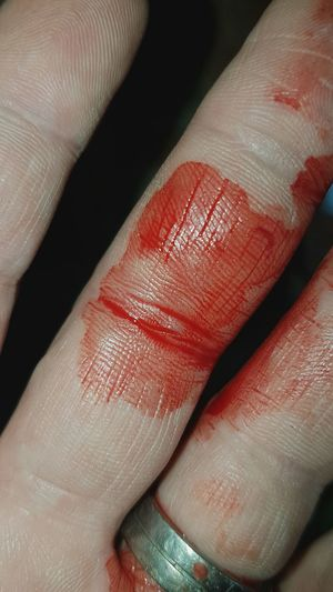 Red Human Body Part Human Finger Human Hand One Person Close-up Physical Injury People My Fingers  Blood Dermal Ridges