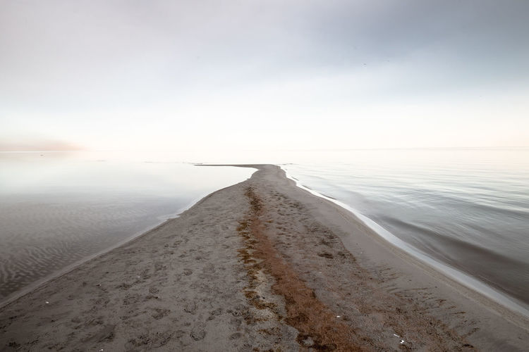 Beach Sea Landscape Sand Tranquility Horizon Over Water No People Sky Water The Great Salt Lake Utah Ethereal