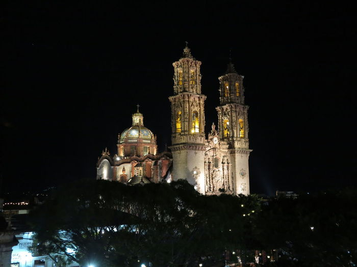 Taxc. cathedral by night Architecture Building Exterior Built Structure City Dome Illuminated Night No People Outdoors Place Of Worship Religion Sky Tourism Travel Destinations