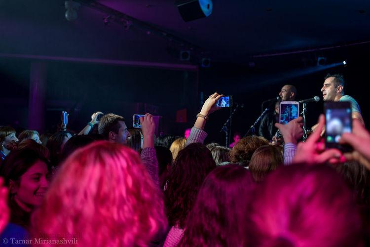 The Photojournalist - 2016 EyeEm Awards Modern World Technology I Can't Live Without Technology Everywhere Smartphones Concert Photography DSLR Photography Nikon D800 Live Music Live Performance  Gamouvalindgomareoba Georgianband Musicians Tbilisi