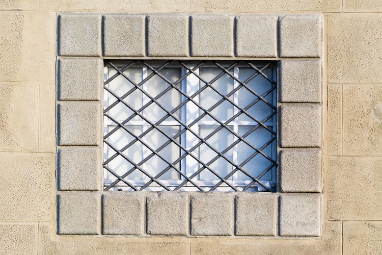 Architecture Backgrounds Blue Building Built Structure Close-up Day Design Destination Full Frame Geometric Shape No People Outdoors Pattern Repetition Travel, Tuscany Window