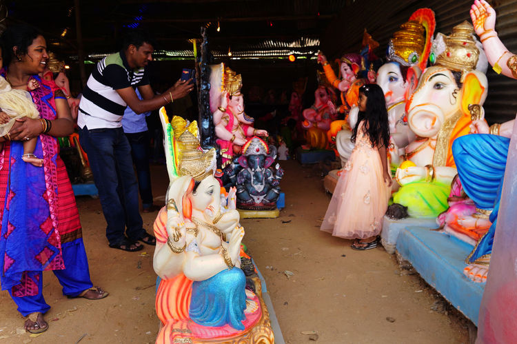 Mobile photography Festive Season GaneshChaturthi Garden Idol Indian Festival Indiapictures Mobile Photography Mobile_photographer