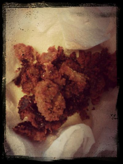 Guess what I made. #firsttime #mountainoysters