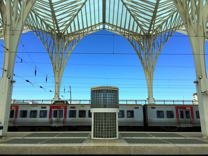 Lisbon station in Portugal. EyeEm Best Shots Symmetry Portugal Train Station Lisbon ShotoniPhone6s Industrial No People Train Patterns Metalwork Architecture Showcase July Minimalist Architecture The Street Photographer - 2017 EyeEm Awards