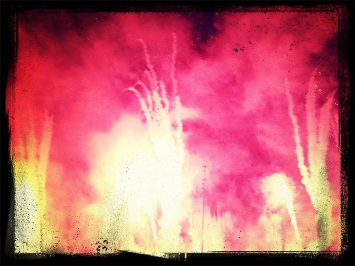 Firework at the end of day 1 Zuerich14 Track & Field