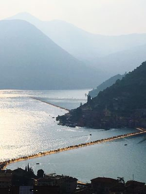 Tramonti_italiani Landscape_photography Sulzano Lago D'Iseo Passerella The Floating Piers By Christo The Floating Piers