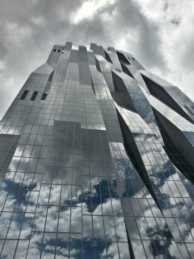 Modern Architecture Cloud - Sky Building Exterior Futuristic Urban Skyline