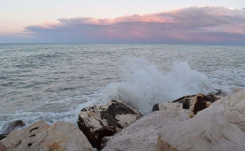 No Filter My Place Sea Wave Sunset In Love Termoli