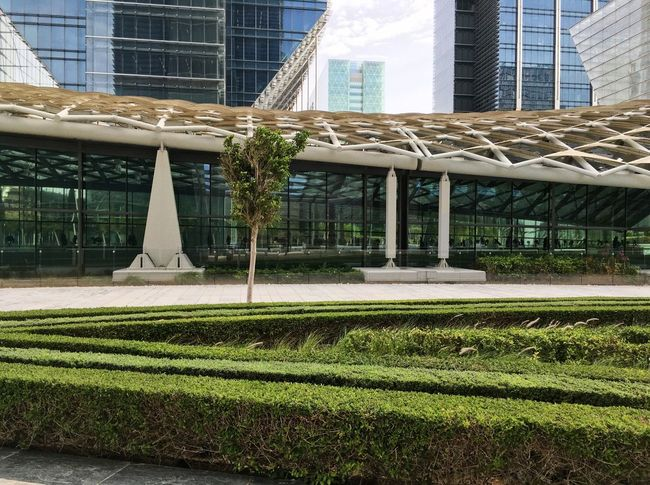 Abu Dhabi, UAE Abu Dhabi Architecture Architecture Building Exterior Buildings Buildings Architecture Built Structure City Day Grass Growth Hot Modern Modern Architecture No People Outdoors The Galleria The Galleria Mall Travel Travel Destinations Travel Photography Tree UAE
