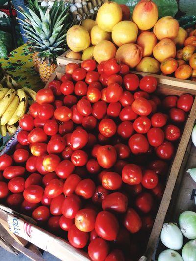 Mercado Frutas Healthy Eating Fruits red Red Color Verdure