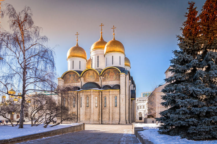 Assumption cathedral against sky during winter