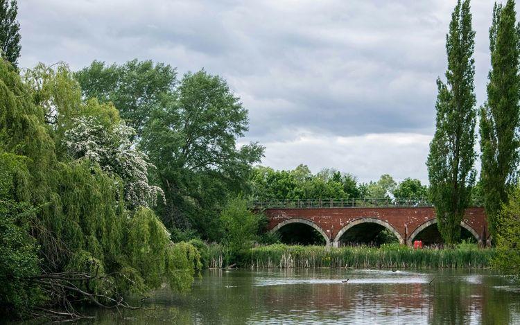 Arches Boating Lake Railway Bridge Brick Arch