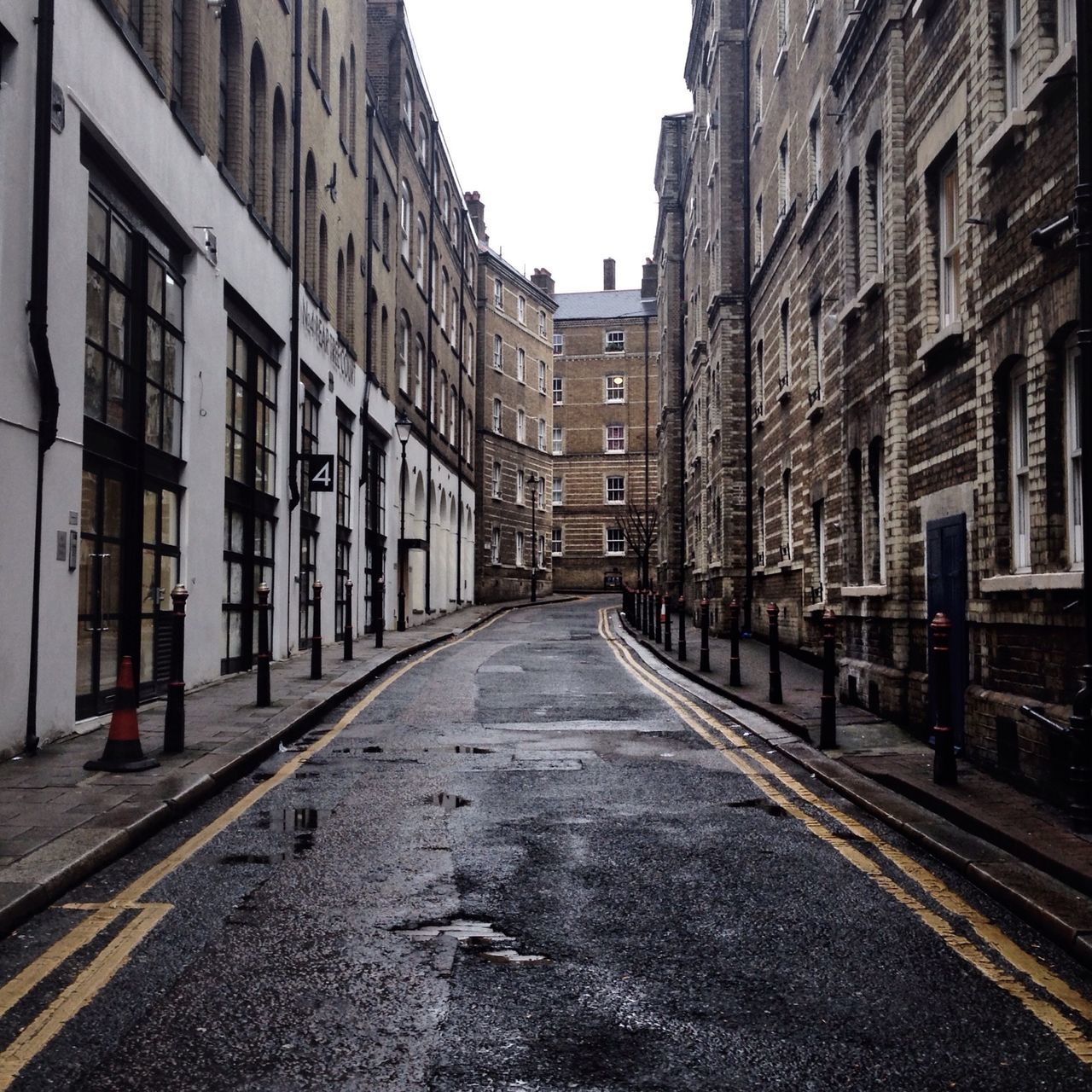 View of empty street
