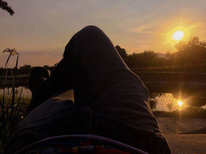 Sunset Tranquility Nature One Person Landscape Sky Reflexions Nature Moment Z5 Photography Only Men
