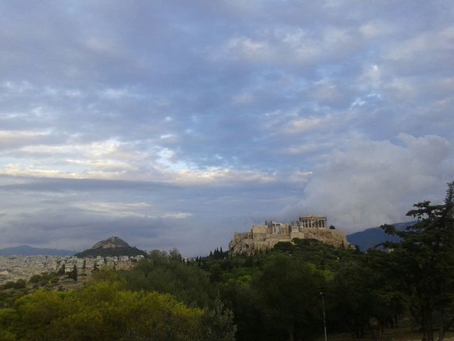 No Filter, No Edit, Just Photography Clouds Clouds And Sky Acropolis, Athens Lycabettus