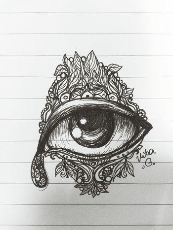 Eye Scetch Black & White Evil Eye