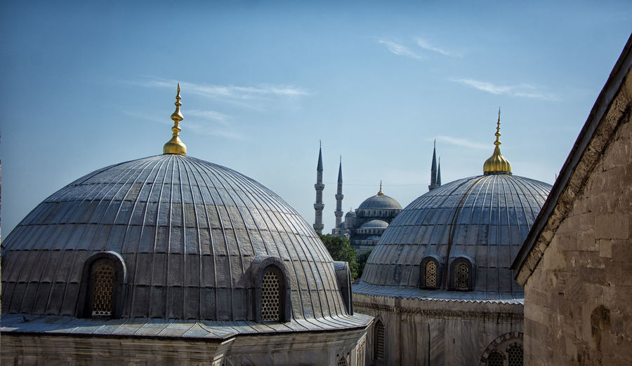 Architecture Architecture_collection Blue Mosque Hagia Sophia Arabic Architecture Architecture Built Structure Day Dome No People Outdoors Place Of Worship Religion AI Now