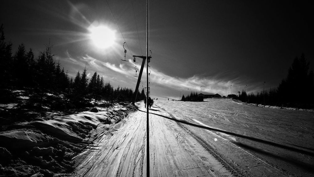 Cold Temperature Tree Outdoors Beauty In Nature Winter Snow Nature Sunbeam Landscape Sun No People Day Sky Skiing Resort Ski Track Skiing 🎿 Mountenering Snowy Mountains Black And White Photography Snow Covered Mountain Landscape White Snow Sunlight Blue Sky Romania