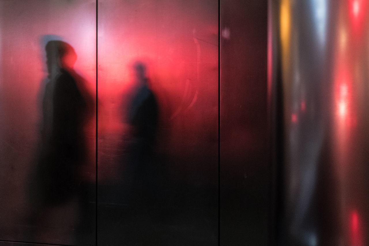 Shadow of people on elevator