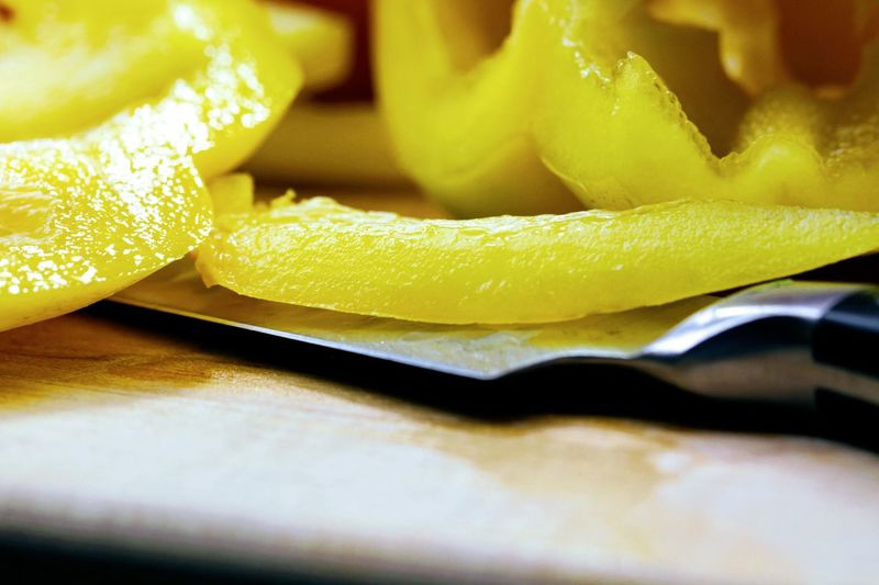 Yellow Pepper Close-up Food Food And Drink Freshness Healthy Eating Pepper SLICE Vegetable Yellow