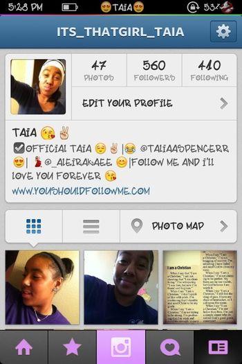 Follow me on insta!