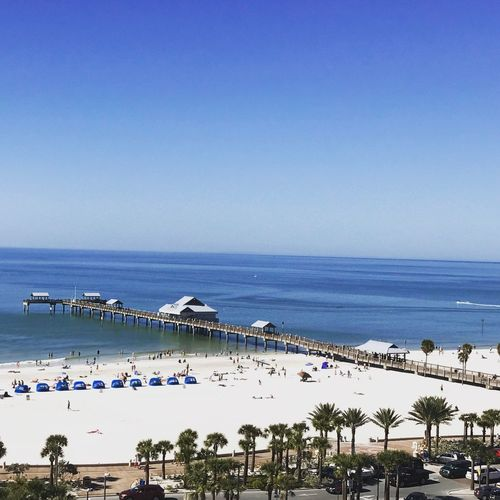 Beach horizon over water vacations outdoors nature blue Sand No People travel destinations Clearwater