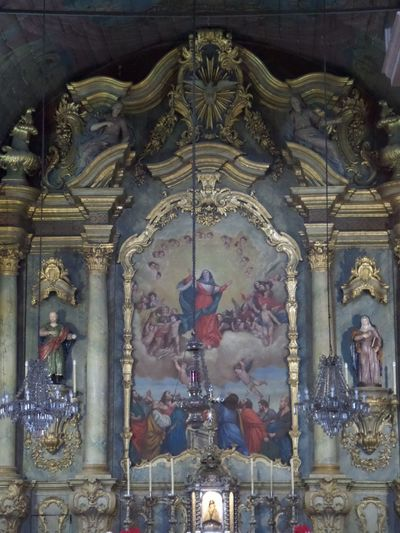 The church at Monte, Madeira. Human Representation Male Likeness Art And Craft Statue Female Likeness Sculpture Religion Architecture Place Of Worship Built Structure Spirituality History Travel Destinations