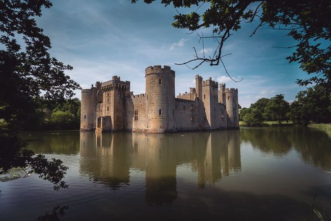 Architecture Built Structure Sky Reflection Tree Building Exterior History Water Cloud - Sky Day Castle Lake Outdoors No People Nature