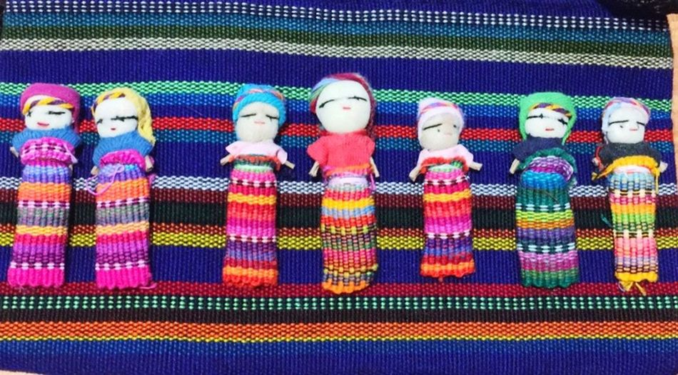Handmade Mexican Multi Colored Art And Craft Side By Side Representation Textile Still Life Variation