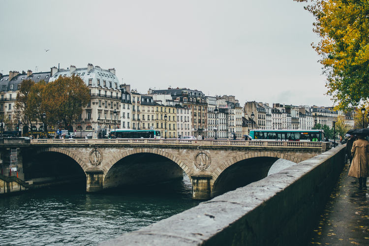 Paris Seine River Autumn Fall Outdoors Architecture Bridge Water Built Structure Waterfront Arch Bridge