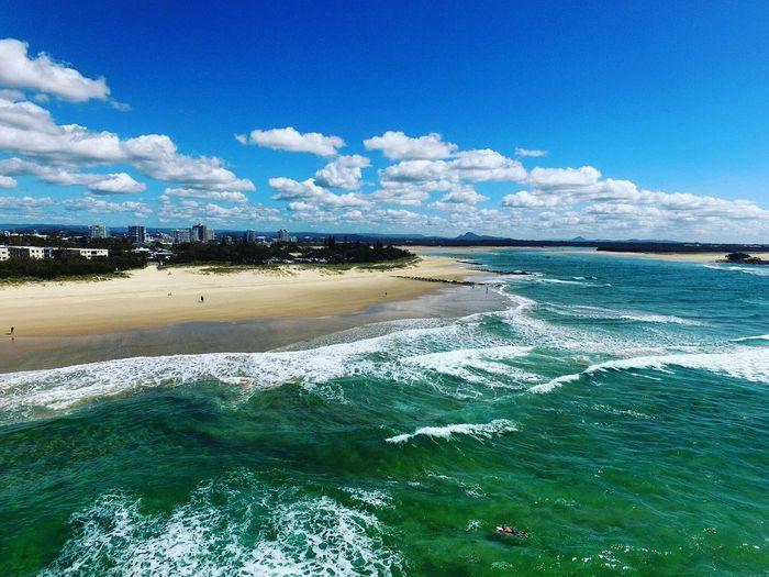 Beach Sea Tranquility Surf Wave Coastline Maroochydore Queensland Australia Drone  First Eyeem Photo