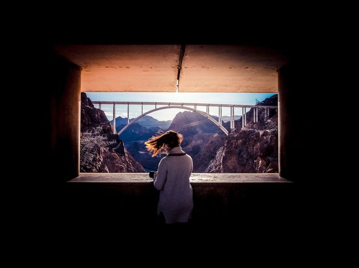 EyeEmNewHere One Woman Only Architecture Bridge Travel Destinations Hoover Dam Fujifilm_xseries Nature Outdoors Frame It! USA Arts Culture And Entertainment Lost In The Landscape EyeEmNewHere