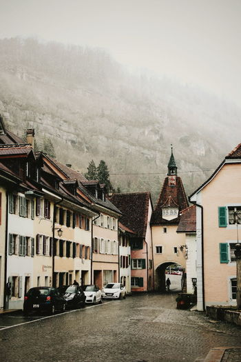 Switzerland Swiss Travel Wanderlust Traveler Explorer Photography Photographer Sky Building Exterior Built Structure TOWNSCAPE Foggy Town Old Town Place City Street