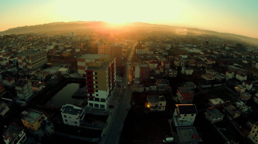 I do not own this. Sunset Sunset_collection Drone  AR Drone 2 View Tirana Albania Bathore Neighborhood Great Views Amazing