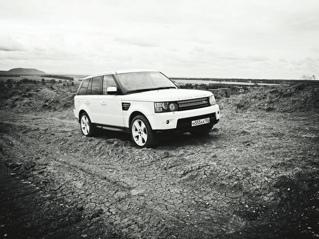 Quarry Range Rover Car Nature Black And White