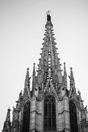 Architecture Barcelona Barrio Gótico Black & White Building Exterior Built Structure Gothic Architecture Low Angle View Outdoors Place Of Worship Religion Spirituality Travel Destinations