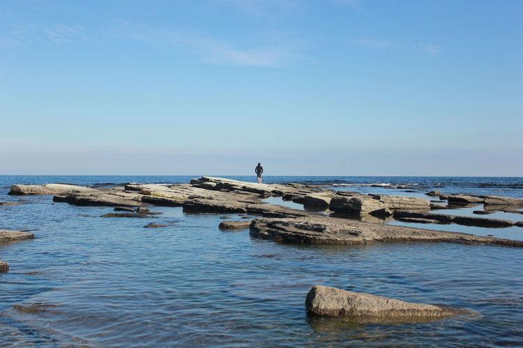 Scenic shot of calm sea