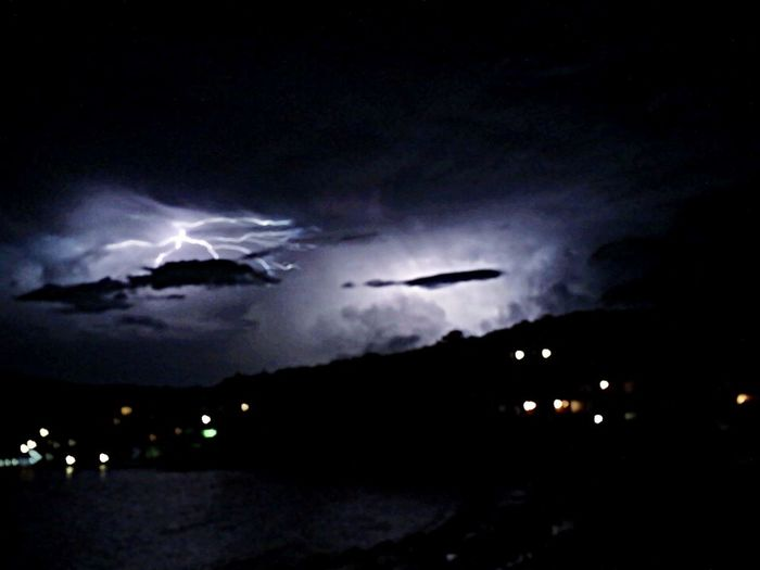 Thunderstorm at Piccolo Pevero Check This Out Night Long Exposure IPhoneography OpenEdit EyeEm Nature Lover Bad Weather