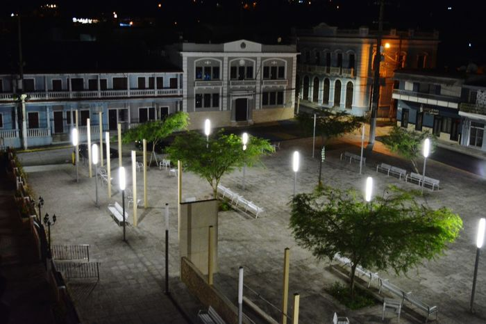 Night Illuminated Architecture Outdoors No People PUERTO RICO 🇵🇷 Ciales Public Square Townhall