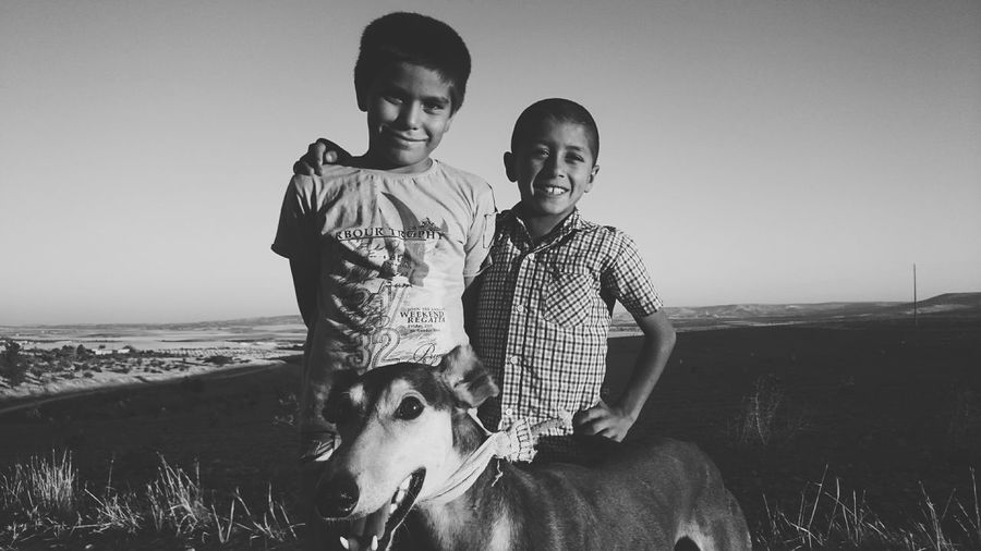 Children with a greyhound... Looking for rabbits for hunting. Adventure Club Hunting Greyhound Boys Portrait Happy People Smile Happiness Action Shot  Life Blackandwhite People Photography Capture The Moment EyeEm Gallery EyeEm Best Shots Eye4photography  EyeEm Best Edits EyeEm Best Shots - Black + White Open Edit Journey Traveling Travel Turkey Sanliurfa Landscape
