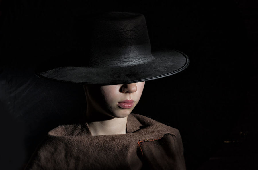 Black Background Black Hat Cowboy Hat One Person OutLaw People Portrait Serious Studio Shot Young Adult