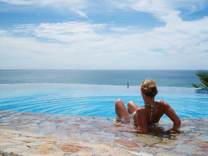 pool time Caribian Life Relax Sunbathe On The Pool Women Girl Swimming Pool Water Swimming Sea Beach Summer Sky Poolside