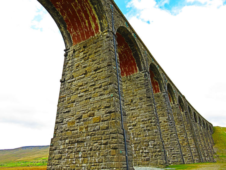 Low Angle View Ribble Valley Ribblehead Ribblehead Viaduct Ribbleheadviaduct Viaduct Viaducts Yorkshire Yorkshire Dales Yorkshiredales EyeEmBestPics EyeEm Best Shots EyeEm Best Shots - Landscape Tourist Attraction  Bridge - Man Made Structure Railway Bridge Railwaybridge Rail Bridge Bridge View Arches