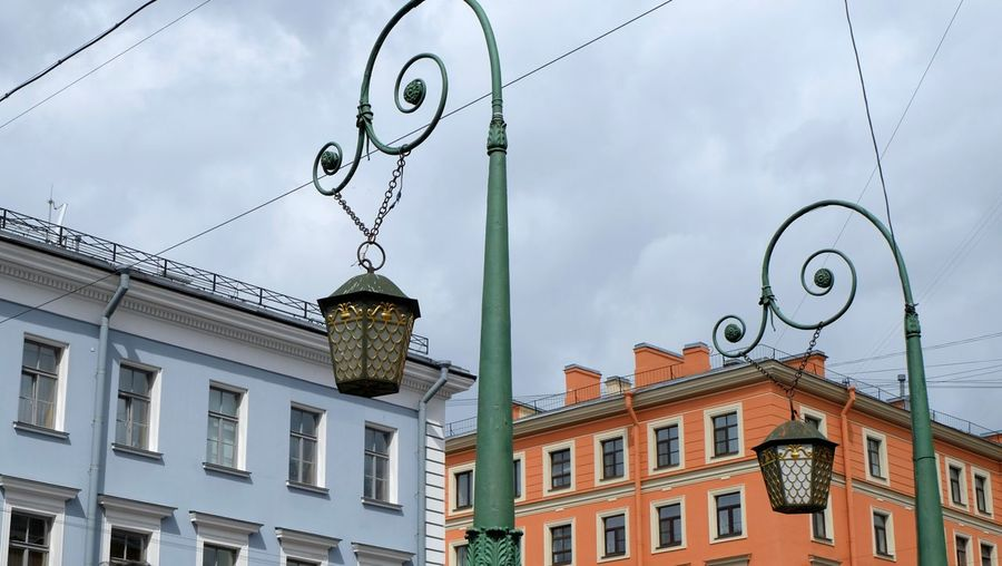 View Of Street Light Against Cloudy Sky